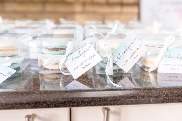 Macaron Box Favors from a Summer Garden Baby Shower on Kara's Party Ideas | KarasPartyIdeas.com (32)