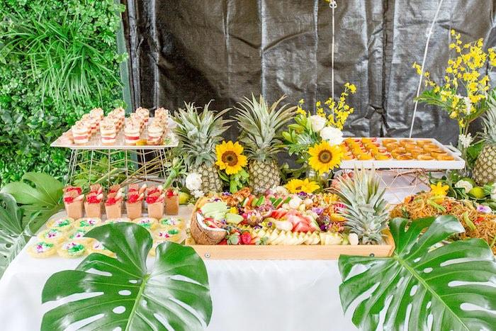 Sweet Table from a Summer Garden Baby Shower on Kara's Party Ideas | KarasPartyIdeas.com (30)