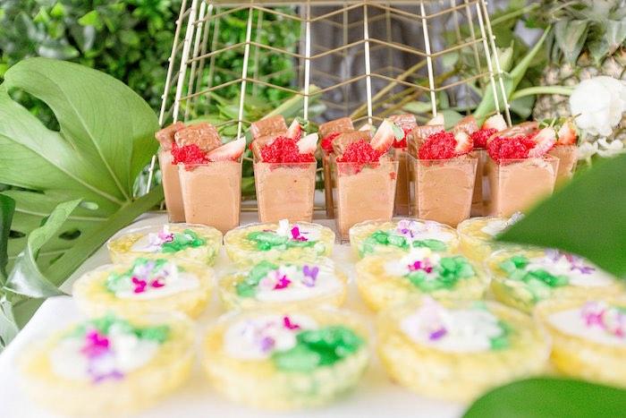 Fruit-topped Pudding + Dessert Cups from a Summer Garden Baby Shower on Kara's Party Ideas | KarasPartyIdeas.com (28)