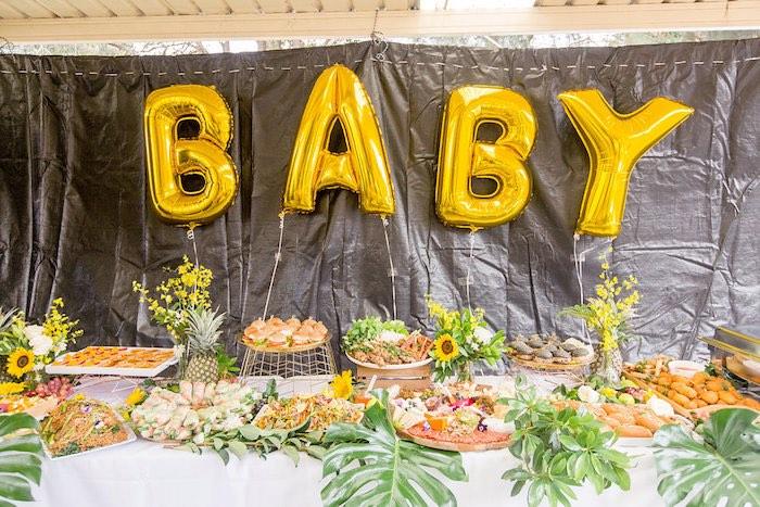 Summer Garden Baby Shower Table on Kara's Party Ideas | KarasPartyIdeas.com (26)