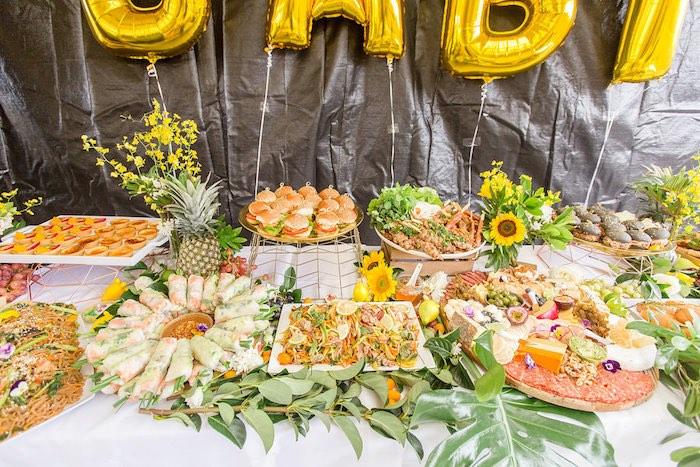 Garden-inspired Food Table from a Summer Garden Baby Shower on Kara's Party Ideas | KarasPartyIdeas.com (25)