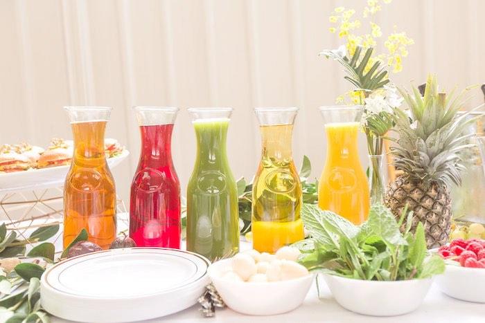 Fruit Drink Mixers from a Summer Garden Baby Shower on Kara's Party Ideas | KarasPartyIdeas.com (20)