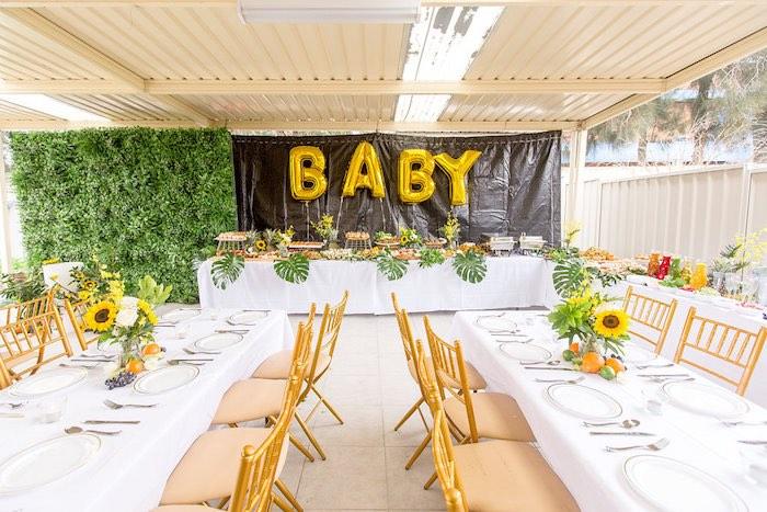Garden Party Tables from a Summer Garden Baby Shower on Kara's Party Ideas | KarasPartyIdeas.com (17)