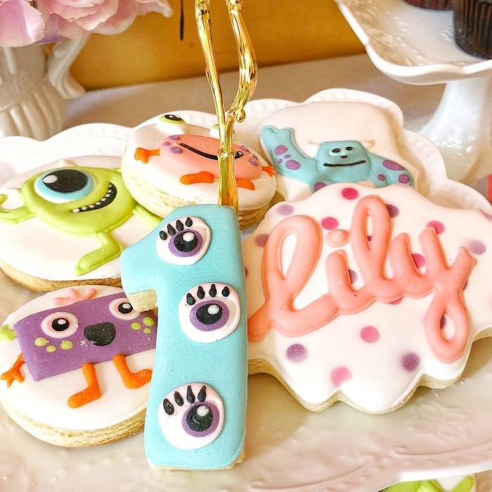 Monster Cookies from a Sweet Monster Bash on Kara's Party Ideas | KarasPartyIdeas.com (14)