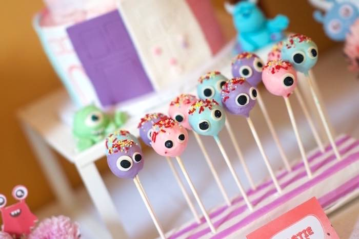 Monster Cake Pops from a Sweet Monster Bash on Kara's Party Ideas | KarasPartyIdeas.com (13)