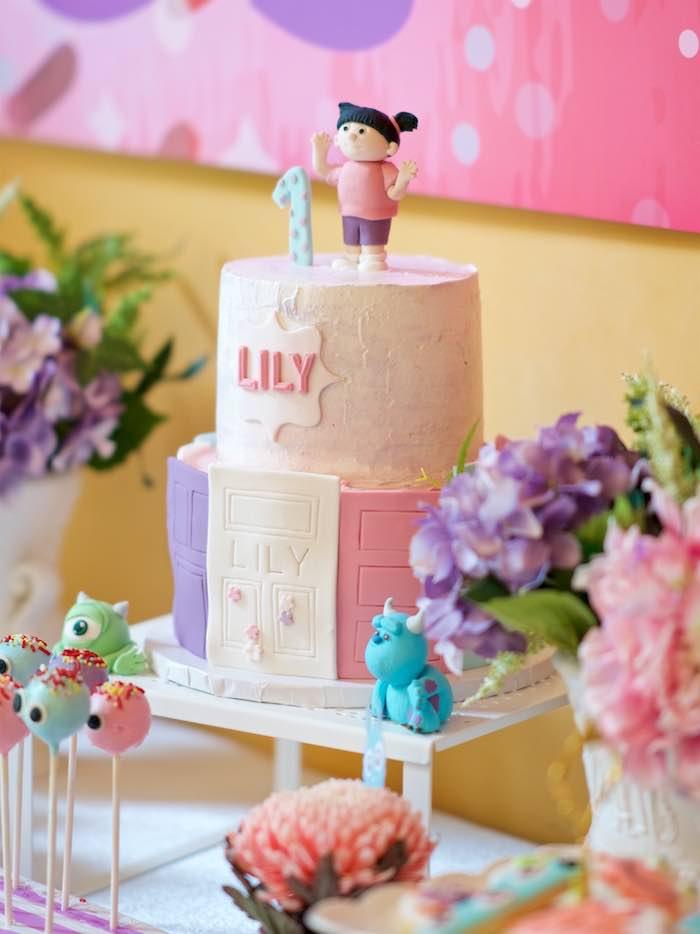 Cake from a Sweet Monster Bash on Kara's Party Ideas   KarasPartyIdeas.com (11)
