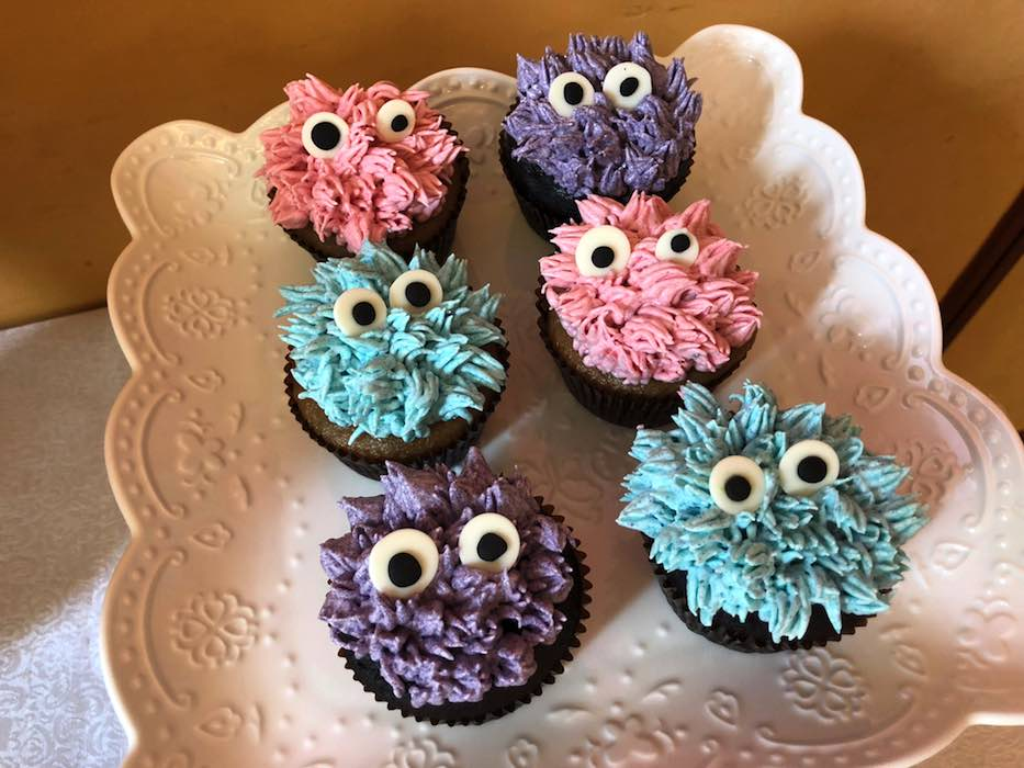 Monster Cupcakes from a Sweet Monster Bash on Kara's Party Ideas | KarasPartyIdeas.com (25)