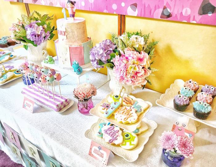 Dessert Table from a Sweet Monster Bash on Kara's Party Ideas | KarasPartyIdeas.com (23)