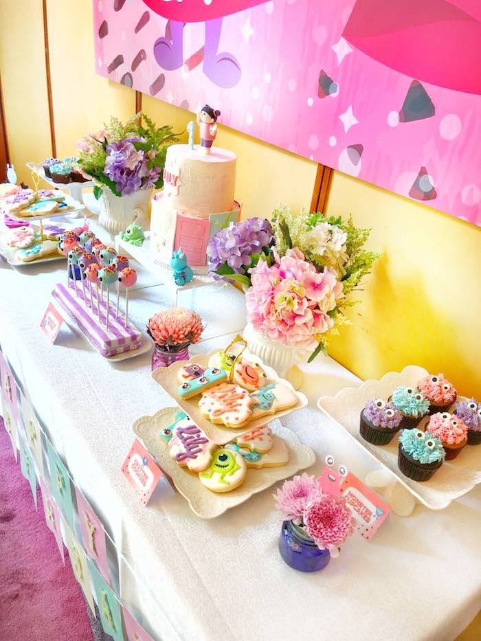 Dessert Table from a Sweet Monster Bash on Kara's Party Ideas | KarasPartyIdeas.com (22)