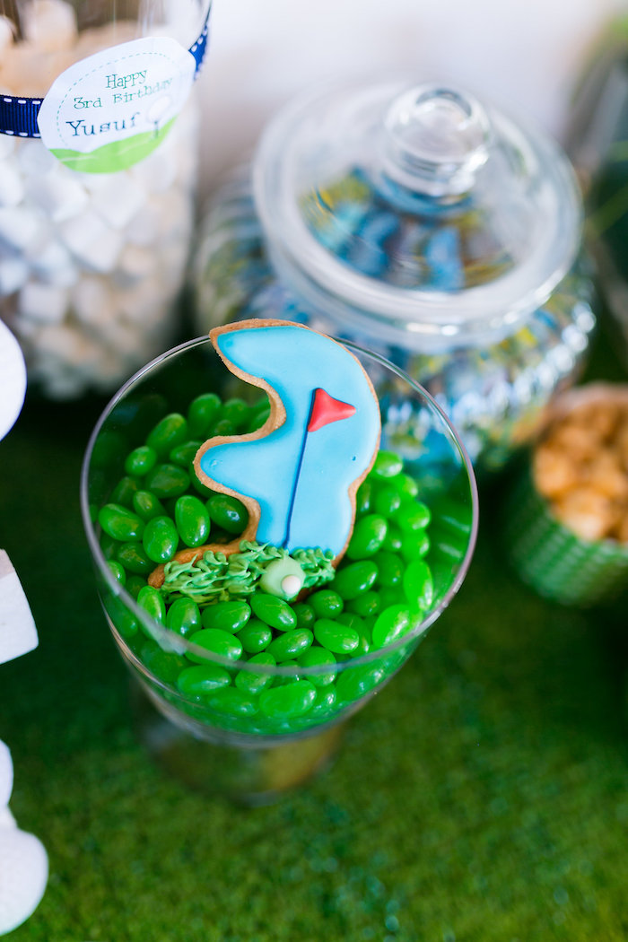 Golf Cookie + Jelly Beans from a Tee-riffic Golf Birthday Party on Kara's Party Ideas | KarasPartyIdeas.com (14)