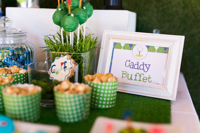 Caddy Buffet from a Tee-riffic Golf Birthday Party on Kara's Party Ideas | KarasPartyIdeas.com (13)