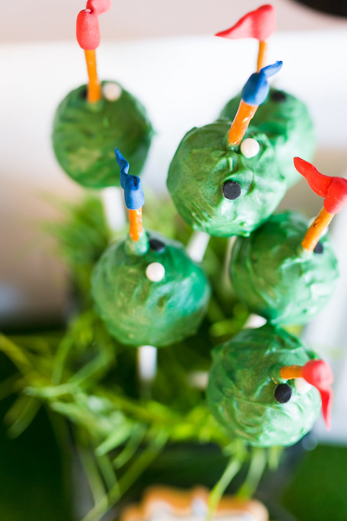 Golf Cake Pops from a Tee-riffic Golf Birthday Party on Kara's Party Ideas | KarasPartyIdeas.com (9)