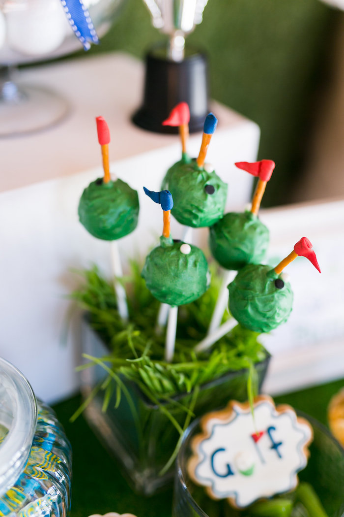 Golf Cake Pops from a Tee-riffic Golf Birthday Party on Kara's Party Ideas | KarasPartyIdeas.com (25)