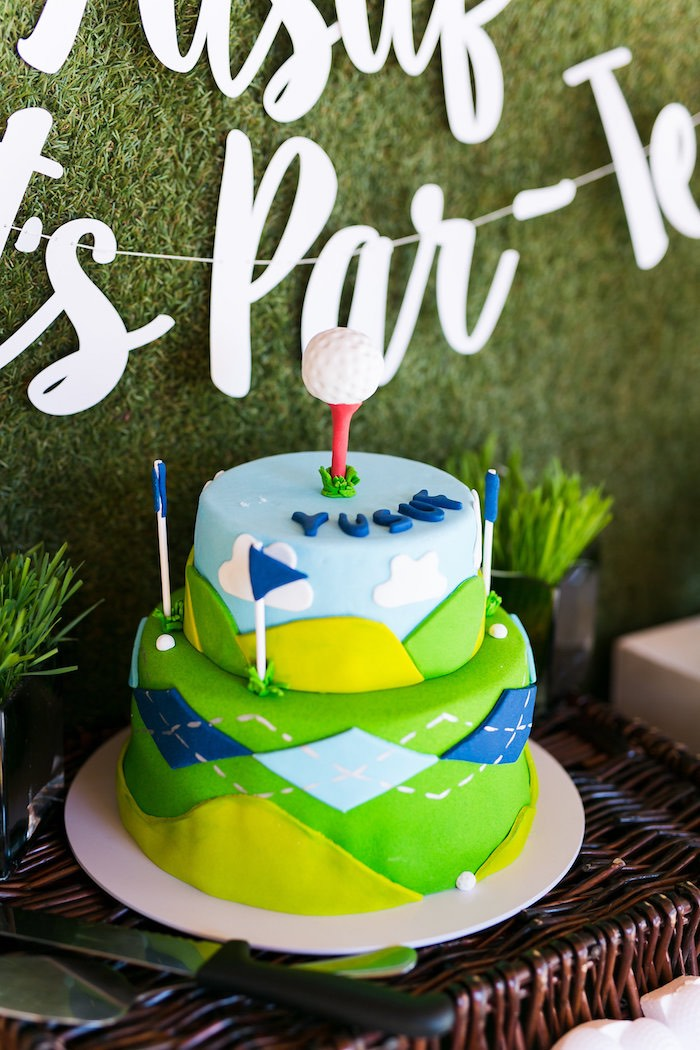 Golf Cake from a Tee-riffic Golf Birthday Party on Kara's Party Ideas | KarasPartyIdeas.com (24)