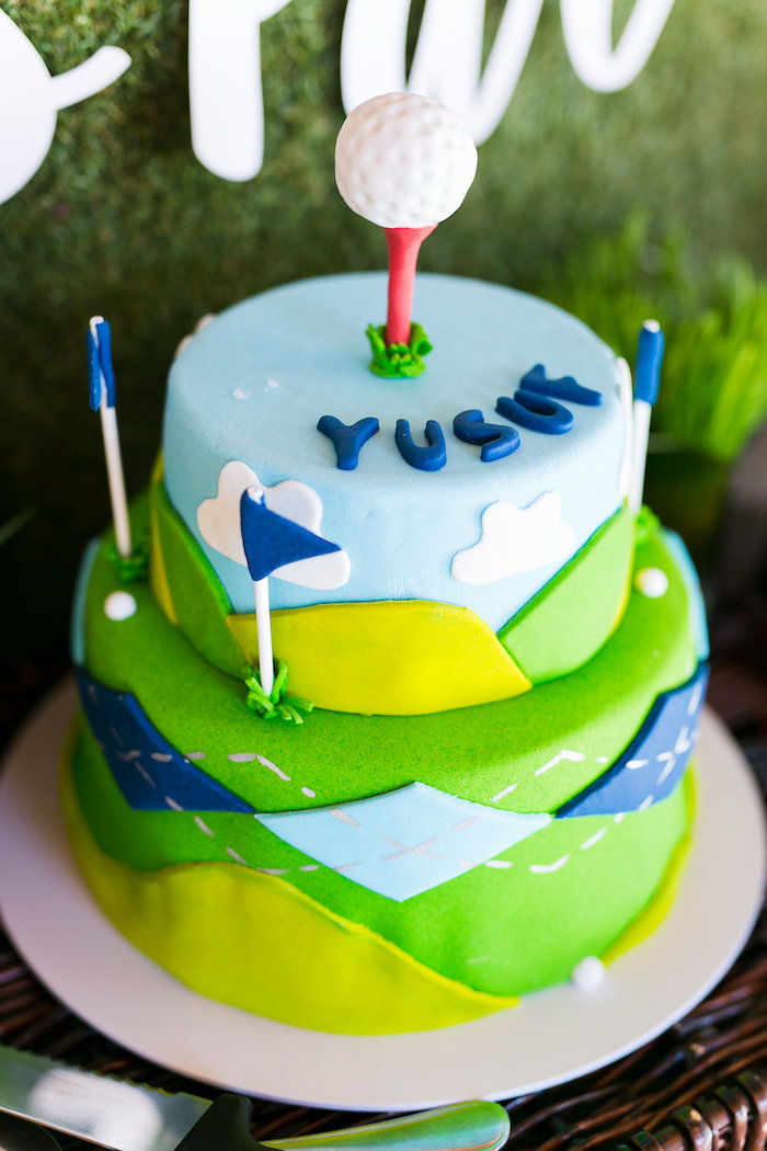Golf Cake from a Tee-riffic Golf Birthday Party on Kara's Party Ideas | KarasPartyIdeas.com (22)
