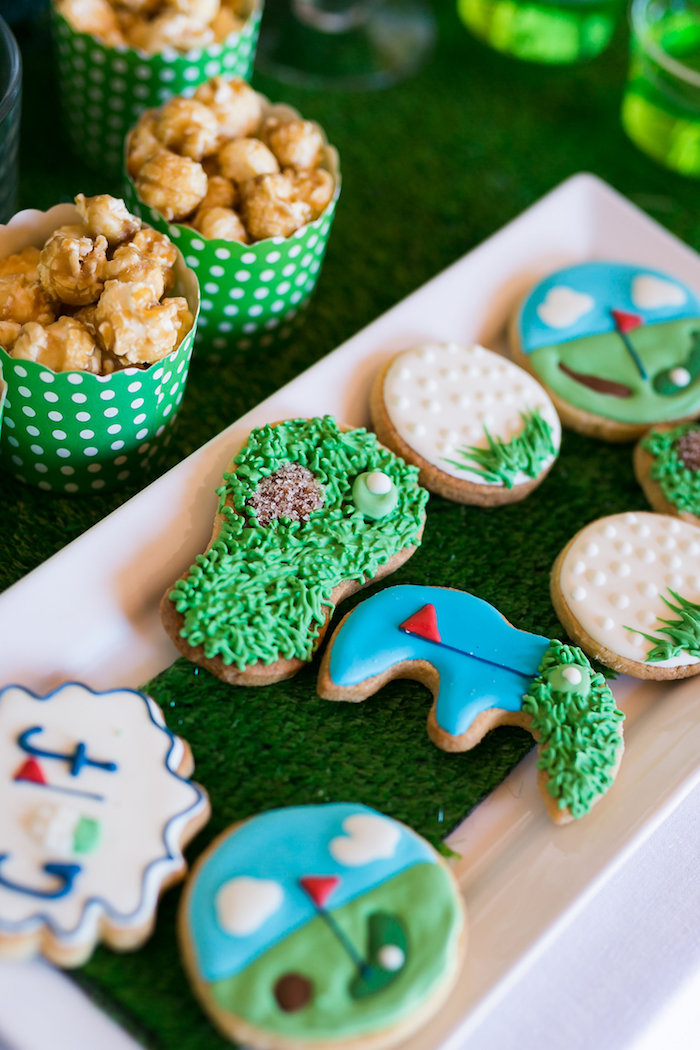 Golf Cookies from a Tee-riffic Golf Birthday Party on Kara's Party Ideas | KarasPartyIdeas.com (19)