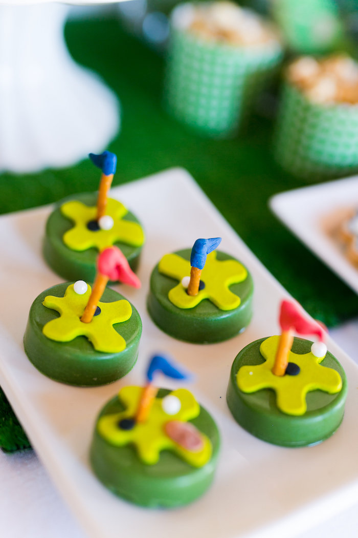 Golf Oreos from a Tee-riffic Golf Birthday Party on Kara's Party Ideas | KarasPartyIdeas.com (18)