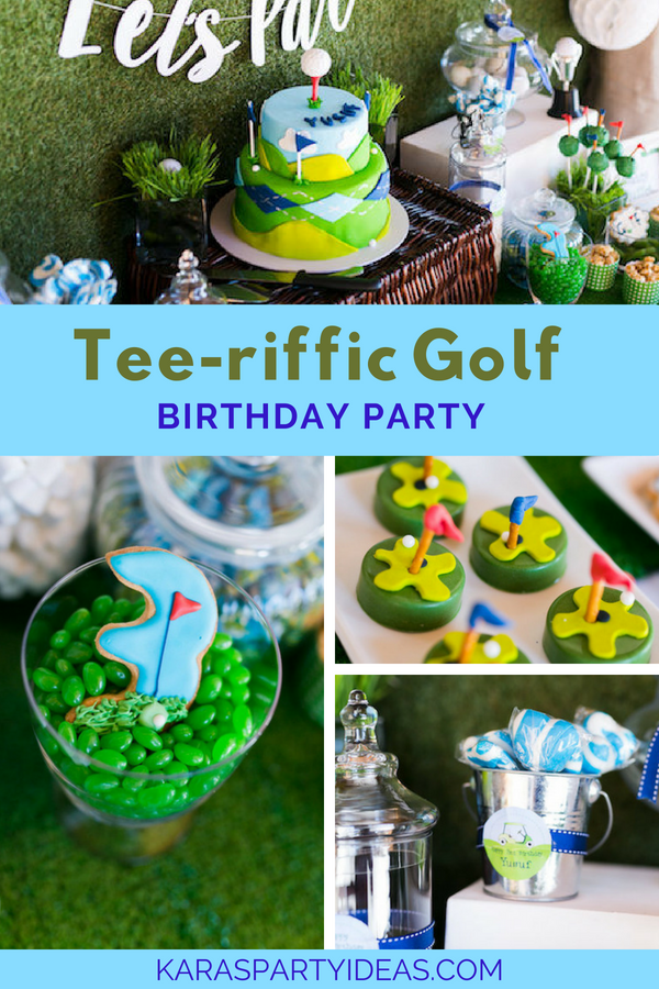 Tee-riffic Golf Birthday Party via Kara's Party Ideas - KarasPartyIdeas.com
