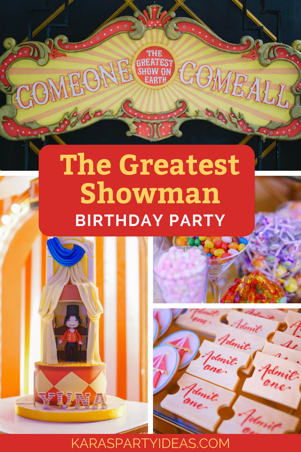 The Greatest Showman Birthday Party via Kara_s Party Ideas - KarasPartyIdeas.com