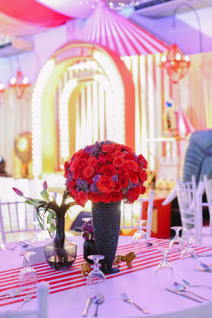 Greatest Showman Guest Table from The Greatest Showman Birthday Party on Kara's Party Ideas | KarasPartyIdeas.com (32)