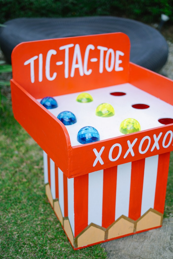 Tic-Tac-Toe Game from The Greatest Showman Birthday Party on Kara's Party Ideas | KarasPartyIdeas.com (29)