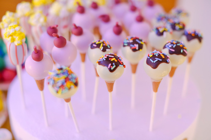 Ice Cream Sundae Cake Pops from The Greatest Showman Birthday Party on Kara's Party Ideas | KarasPartyIdeas.com (26)