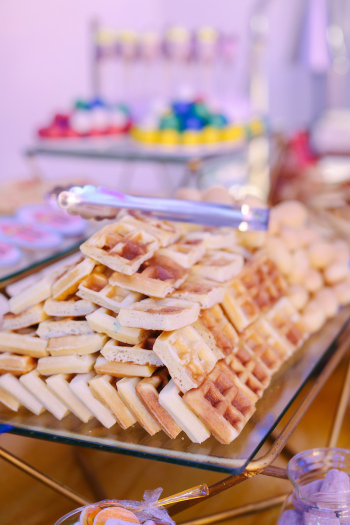 Waffles from The Greatest Showman Birthday Party on Kara's Party Ideas | KarasPartyIdeas.com (22)