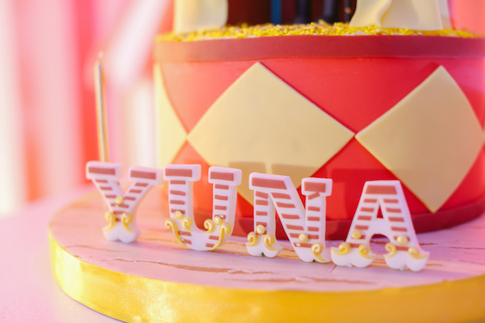 Circus Block Cake from The Greatest Showman Birthday Party on Kara's Party Ideas | KarasPartyIdeas.com (15)