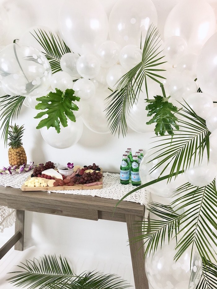 Tropical Chic Charcuterie Table on Kara's Party Ideas | KarasPartyIdeas.com (13)