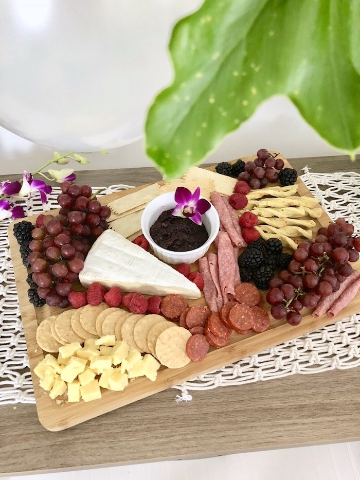 Charcuterie Platter from a Tropical Chic Charcuterie Table on Kara's Party Ideas | KarasPartyIdeas.com (12)
