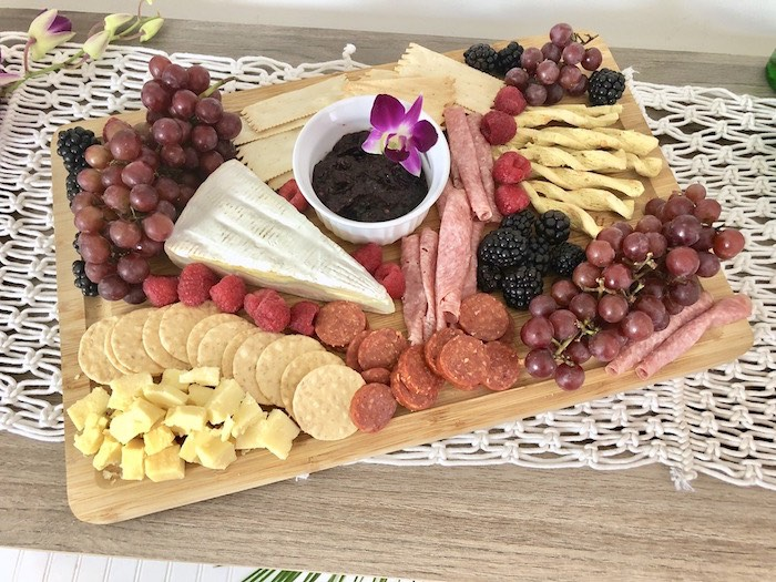 Charcuterie Platter from a Tropical Chic Charcuterie Table on Kara's Party Ideas | KarasPartyIdeas.com (10)