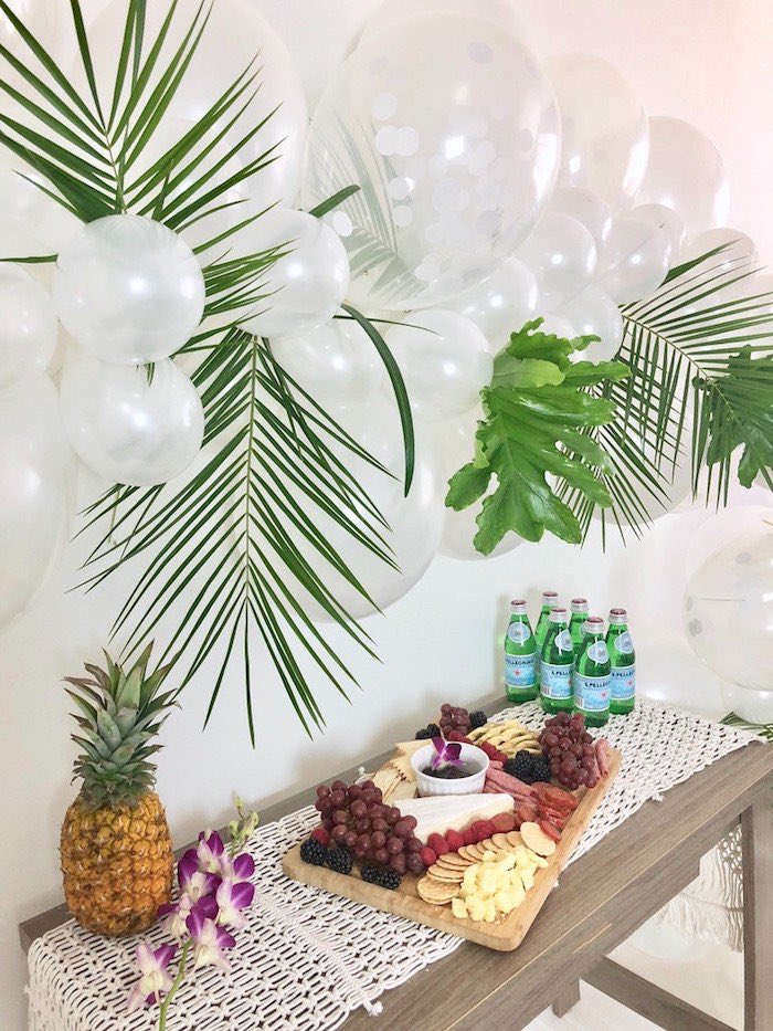 Kara S Party Ideas Tropical Chic Charcuterie Table Kara S Party Ideas