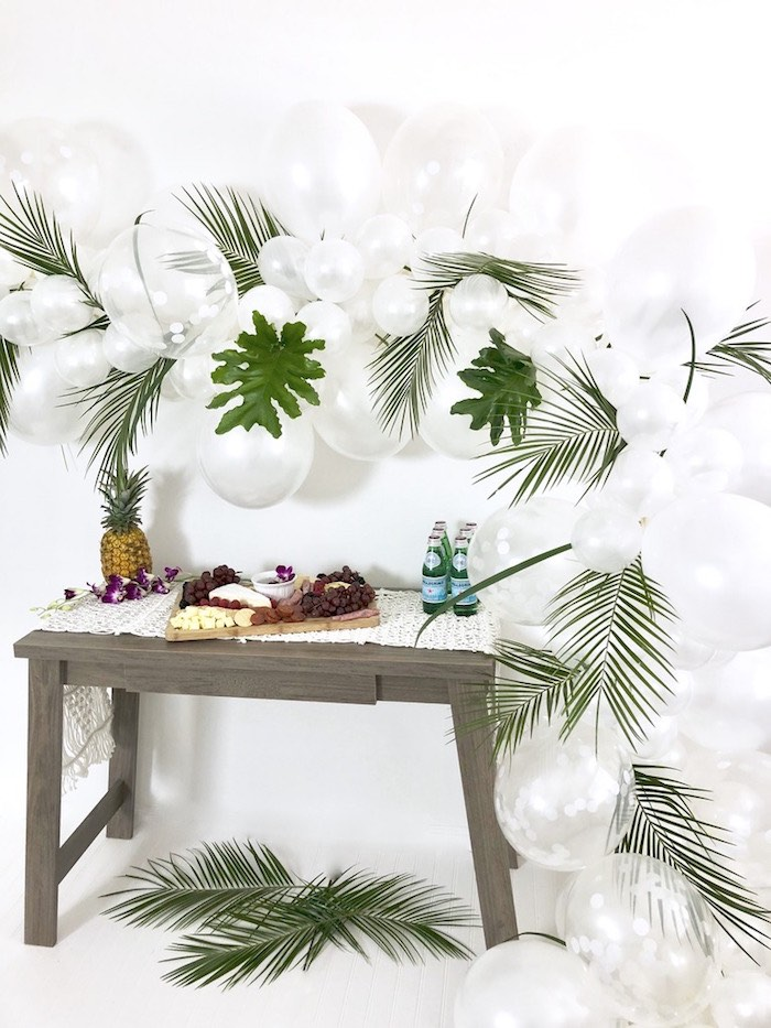 Tropical Chic Charcuterie Table on Kara's Party Ideas | KarasPartyIdeas.com (7)