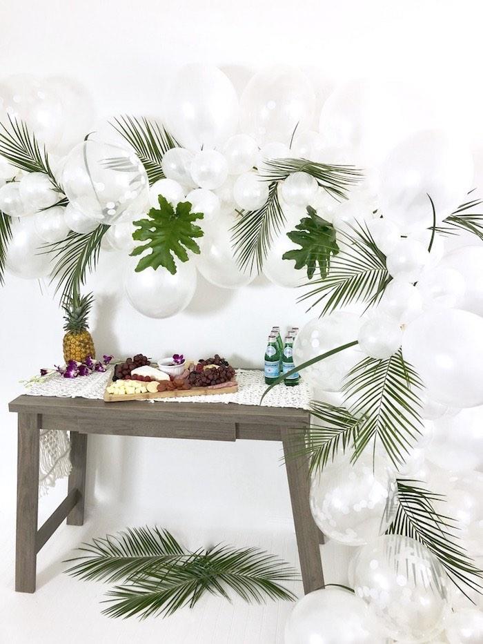 Tropical Chic Charcuterie Table on Kara's Party Ideas | KarasPartyIdeas.com (7)