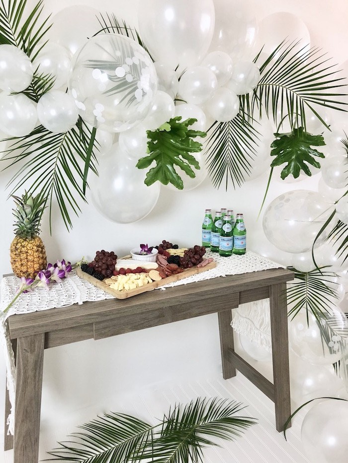 Tropical Chic Charcuterie Table on Kara's Party Ideas | KarasPartyIdeas.com (5)