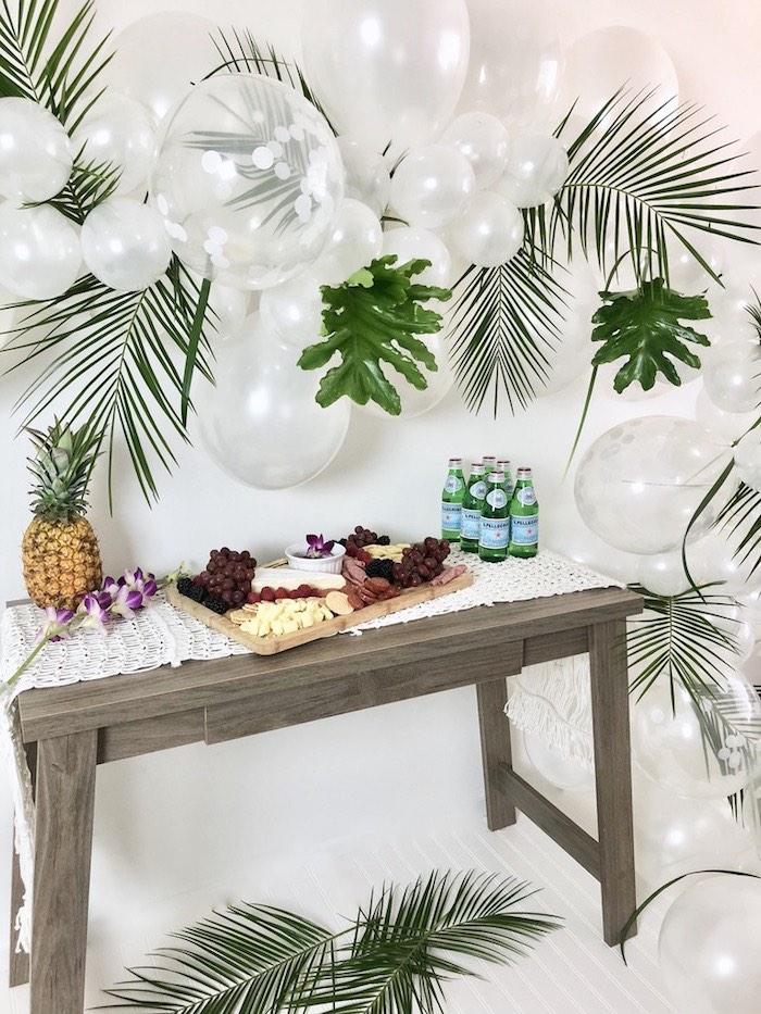Tropical Chic Charcuterie Table on Kara's Party Ideas | KarasPartyIdeas.com (5)