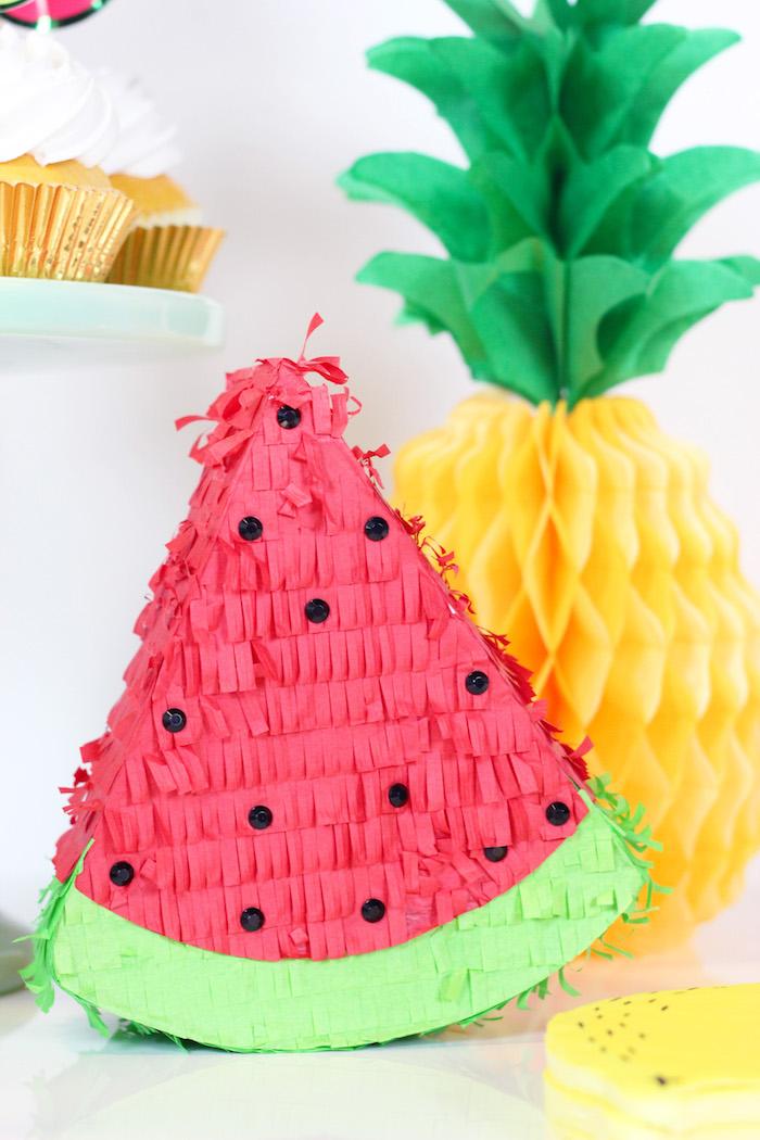 Mini Watermelon Pinata from a Tutti Frutti Summer Party on Kara's Party Ideas | KarasPartyIdeas.com (19)