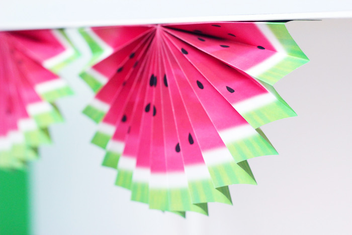 Watermelon Fan from a Tutti Frutti Summer Party on Kara's Party Ideas | KarasPartyIdeas.com (17)