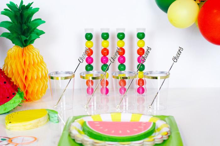Partyware from a Tutti Frutti Summer Party on Kara's Party Ideas | KarasPartyIdeas.com (13)