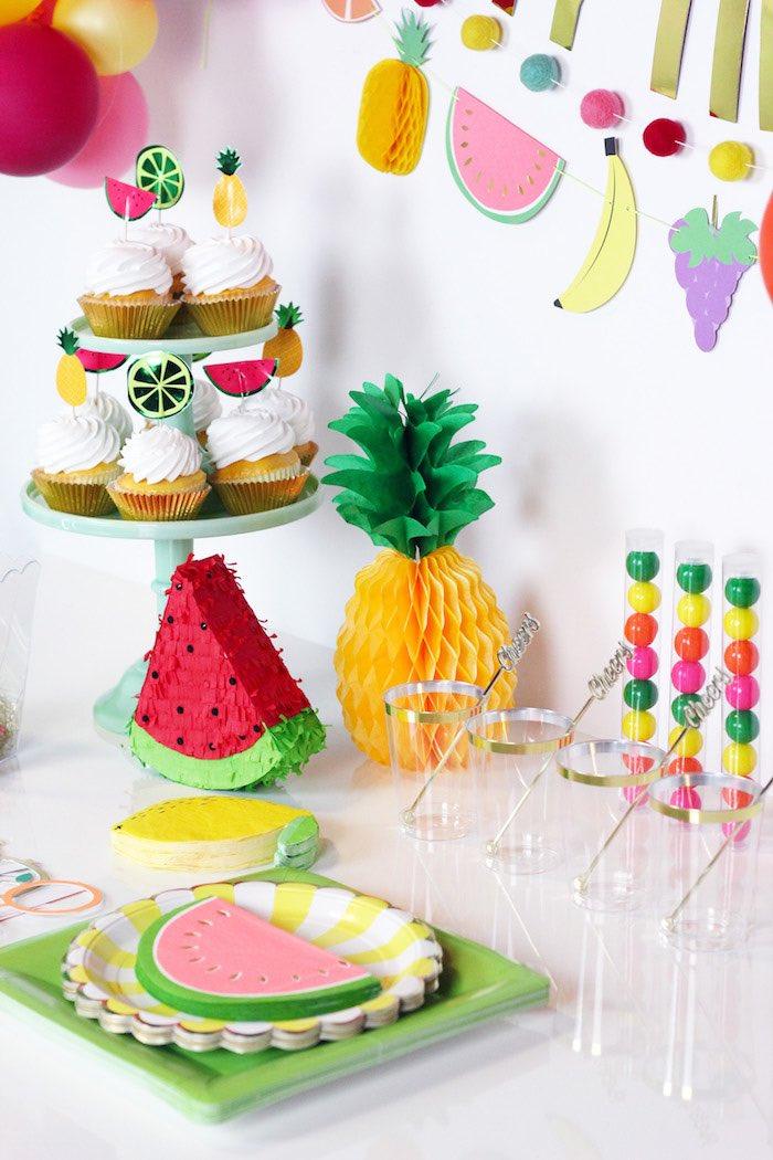 Sweet Table from a Tutti Frutti Summer Party on Kara's Party Ideas | KarasPartyIdeas.com (12)