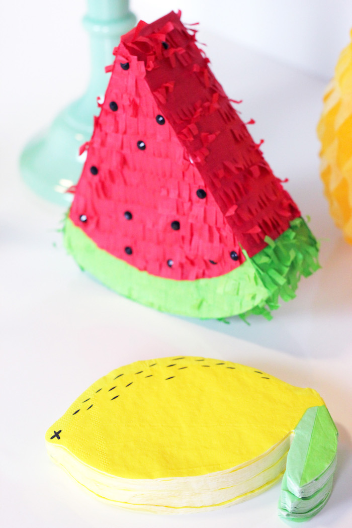 Mini Fruit Pinatas from a Tutti Frutti Summer Party on Kara's Party Ideas | KarasPartyIdeas.com (10)