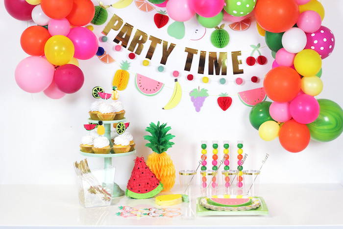 Tutti Frutti Party Table from a Tutti Frutti Summer Party on Kara's Party Ideas | KarasPartyIdeas.com (26)