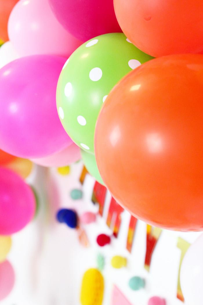 Balloons from a Tutti Frutti Summer Party on Kara's Party Ideas | KarasPartyIdeas.com (23)