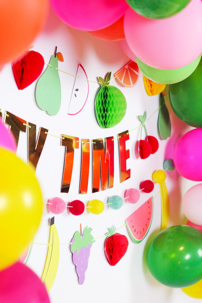 Party Time Fruit Banner + Bunting from a Tutti Frutti Summer Party on Kara's Party Ideas | KarasPartyIdeas.com (22)