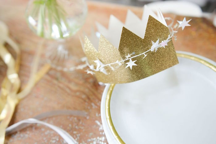 Star-wrapped Crown from a Twinkle Twinkle Little Star Birthday Party on Kara's Party Ideas | KarasPartyIdeas.com (14)