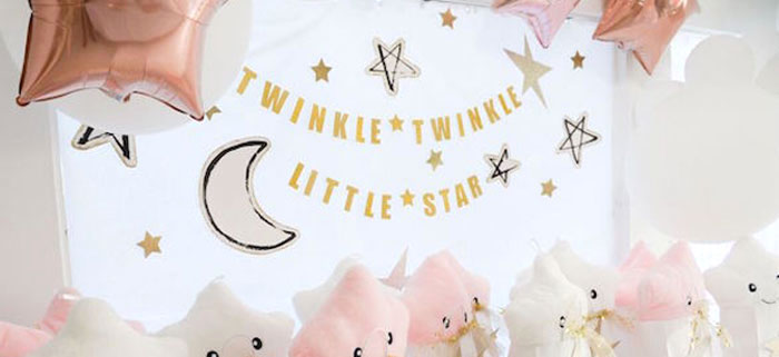 Twinkle Twinkle Little Star Birthday Party on Kara's Party Ideas | KarasPartyIdeas.com (1)
