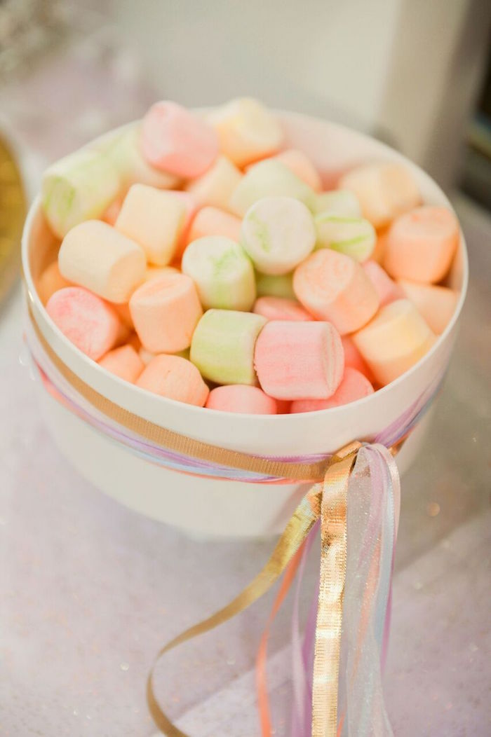 Ribbon Tassel Marshmallow Bowl from a Twinkle Twinkle Little Star Birthday Party on Kara's Party Ideas | KarasPartyIdeas.com (18)