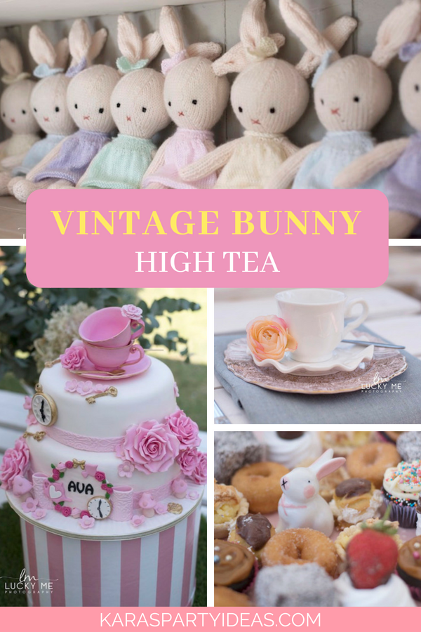Vintage Bunny High Tea via Kara_s Party Ideas - KarasPartyIdeas.com