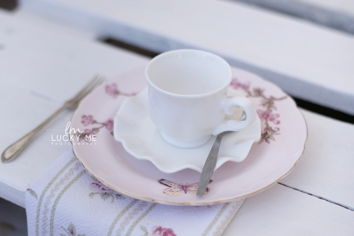 Tea Table Setting from a Vintage Bunny High Tea on Kara's Party Ideas | KarasPartyIdeas.com (32)