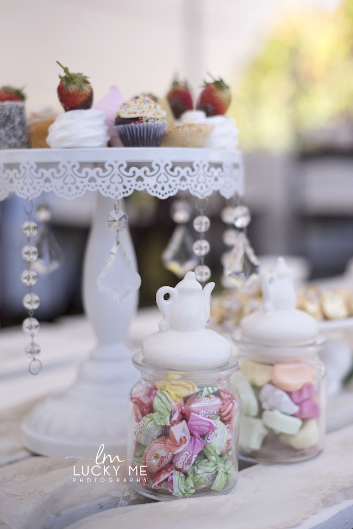 Tea Kettle Favor Jars from a Vintage Bunny High Tea on Kara's Party Ideas | KarasPartyIdeas.com (25)
